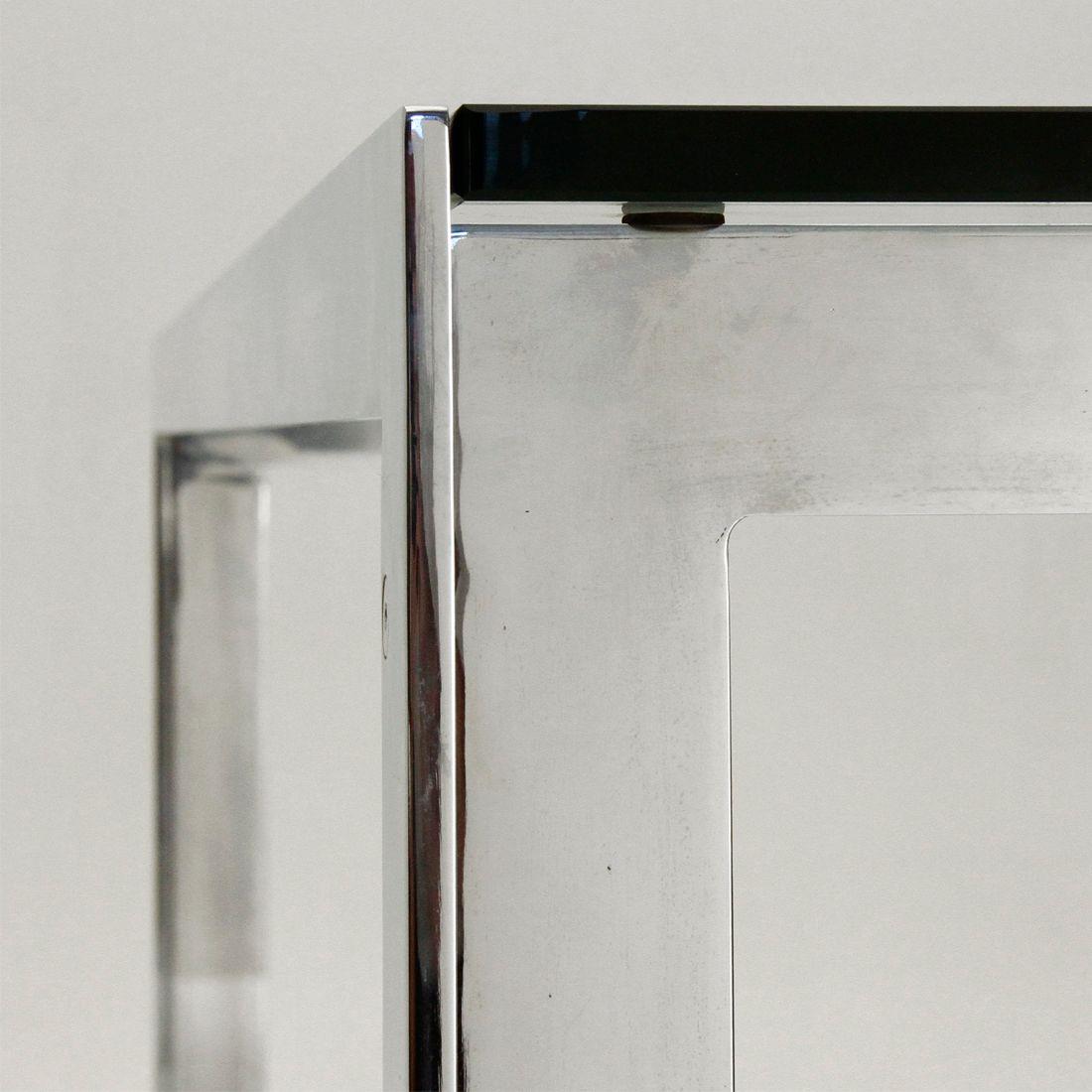 italienischer vintage esstisch aus glas chrom 1970er. Black Bedroom Furniture Sets. Home Design Ideas