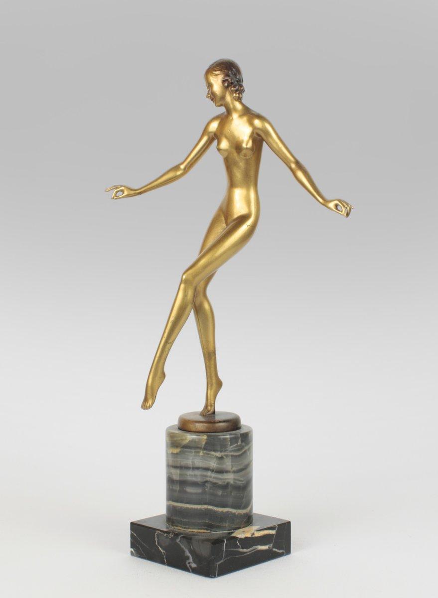 austrian art deco bronze statue by josef lorenzl 1930s for sale at pamono. Black Bedroom Furniture Sets. Home Design Ideas