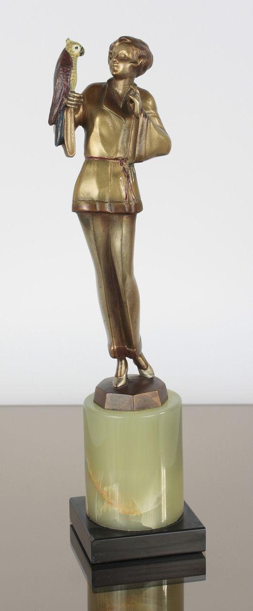 Art Deco Bronze Statue By Joseph Lorenzl, 1925 For Sale At Pamono