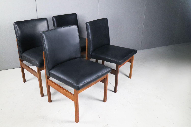 esszimmerset mit 4 d nischen st hlen und 1 tisch von mcintosh 1970er bei pamono kaufen. Black Bedroom Furniture Sets. Home Design Ideas