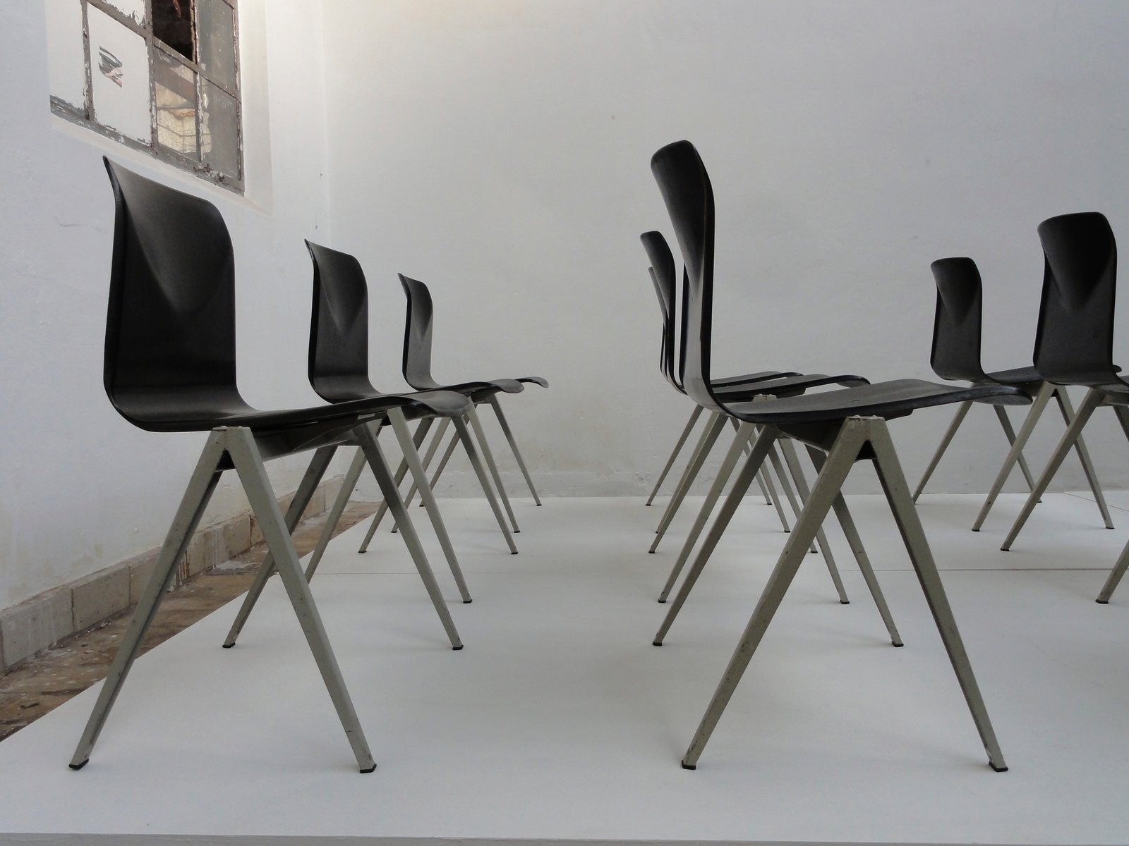 S22 Pacwood Industrial Chairs from Galvanitas 1967 Set of 6 for