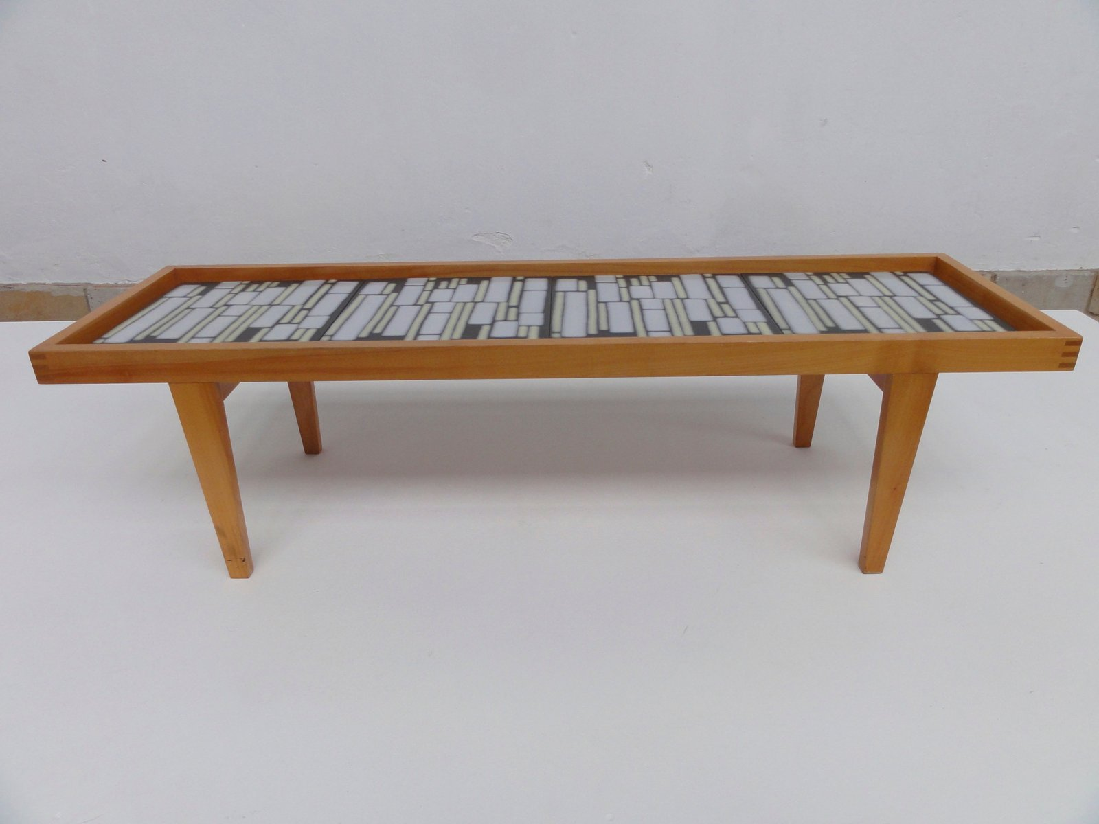 German Mid Century Ceramic Tile Coffee Table for sale at Pamono