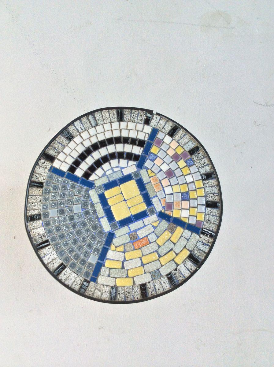 Mid century beistelltisch mit mosaik 1950er bei pamono kaufen for Mosaik beistelltisch