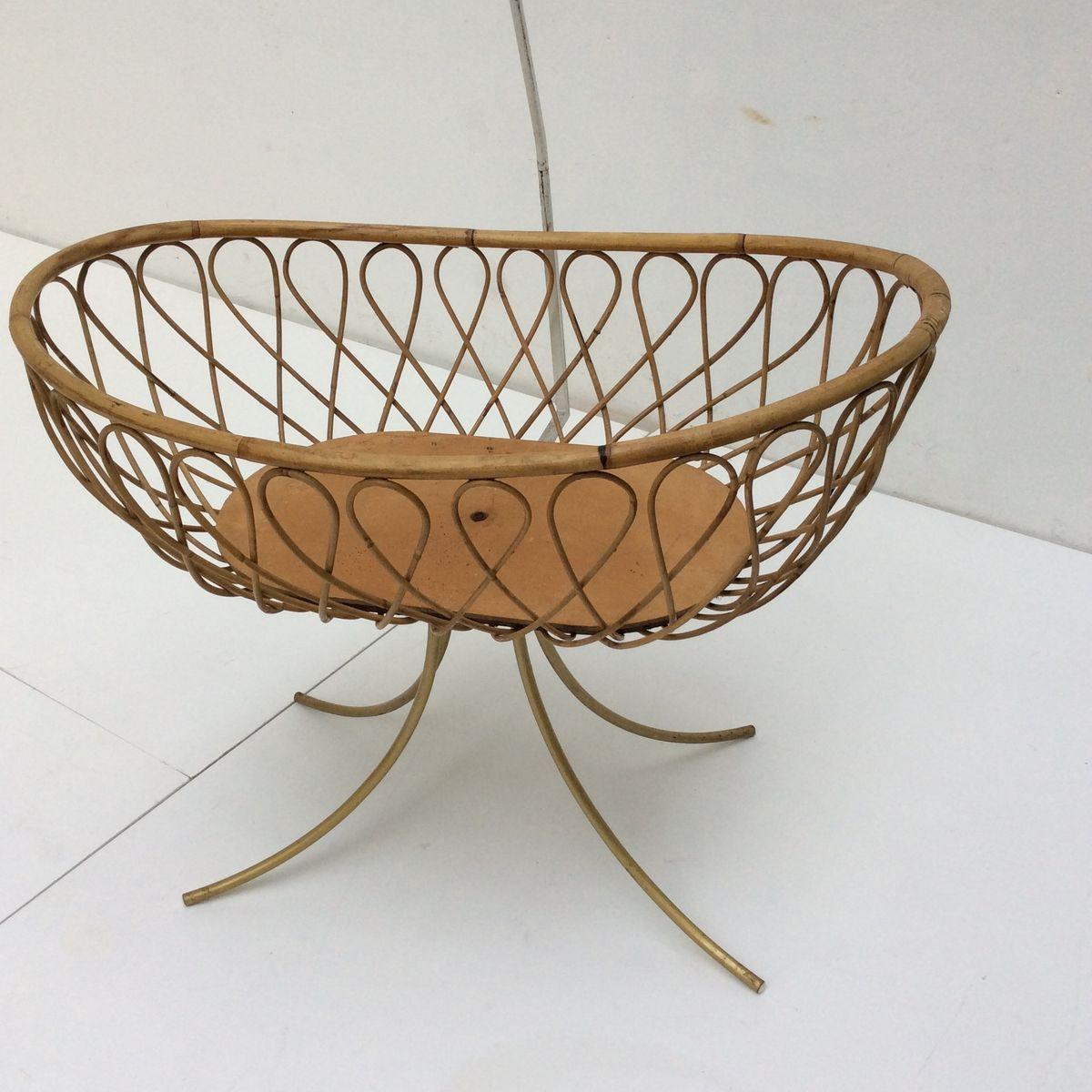 Vintage crib for sale - Vintage Dutch Baby Crib By Rohe Noordwolde 1960s