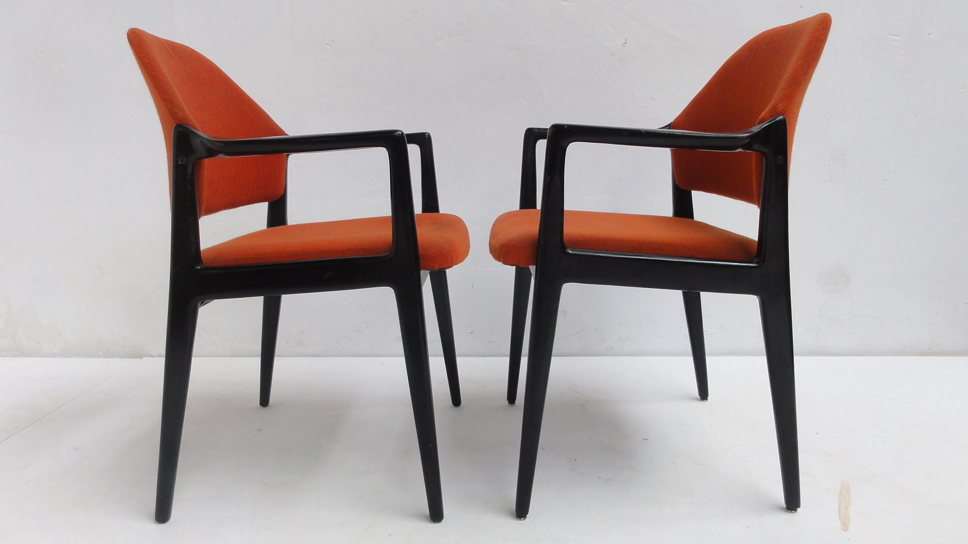Orange dining chairs from wilkhahn s set of for
