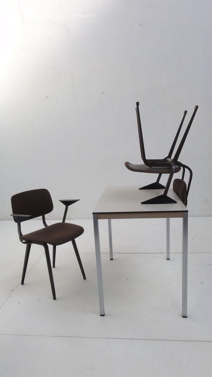 facet tisch und revolt stuhl esszimmerset von friso kramer f r ahrend de cirkel 1970er bei. Black Bedroom Furniture Sets. Home Design Ideas