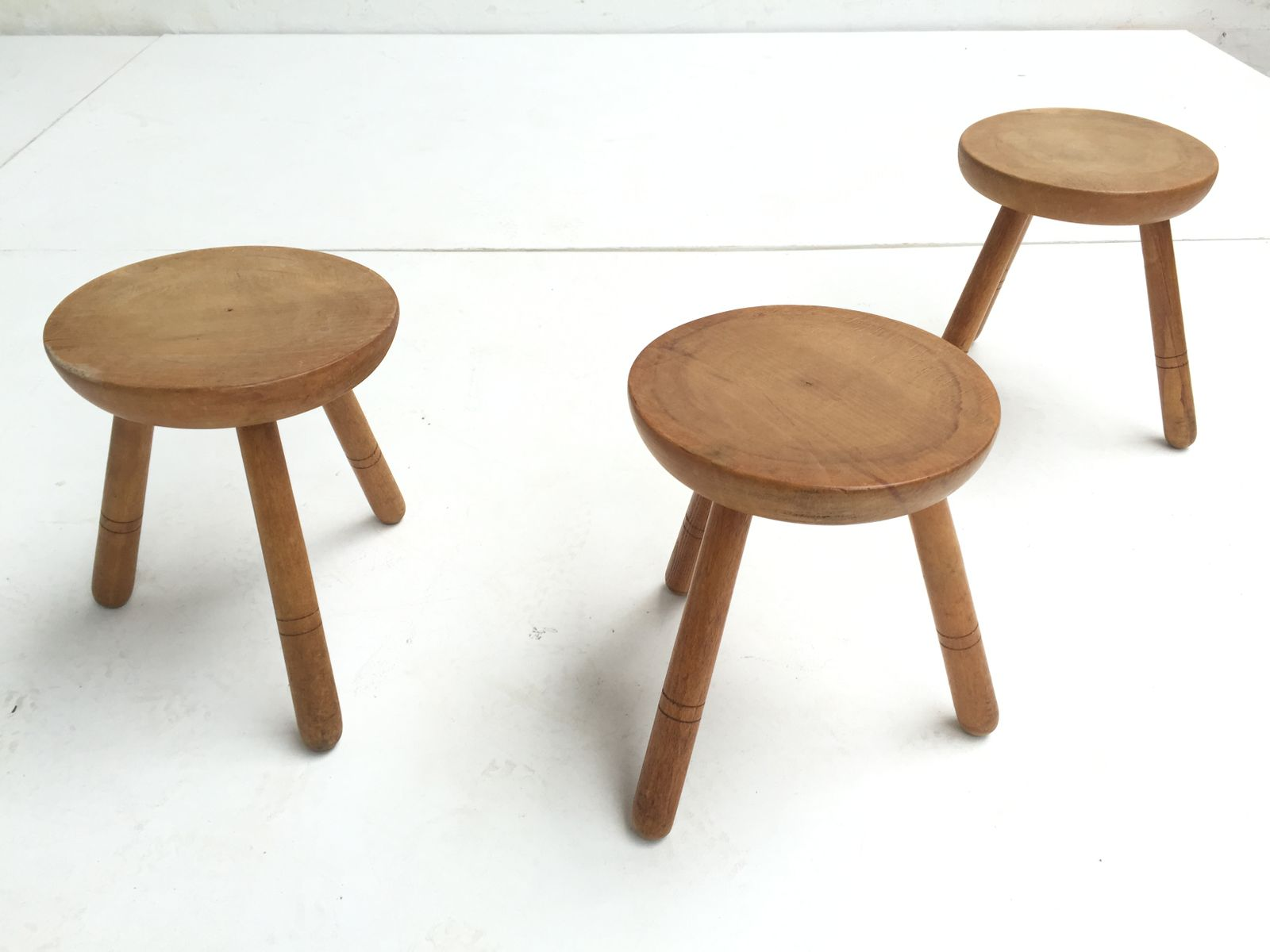 Superb img of Vintage Birch Wood Stools 1970s Set of 3 for sale at Pamono with #714A30 color and 1600x1200 pixels