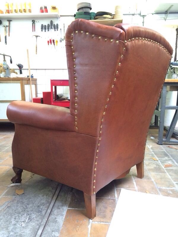 leather chair wingback modern wing recliner sale amazon