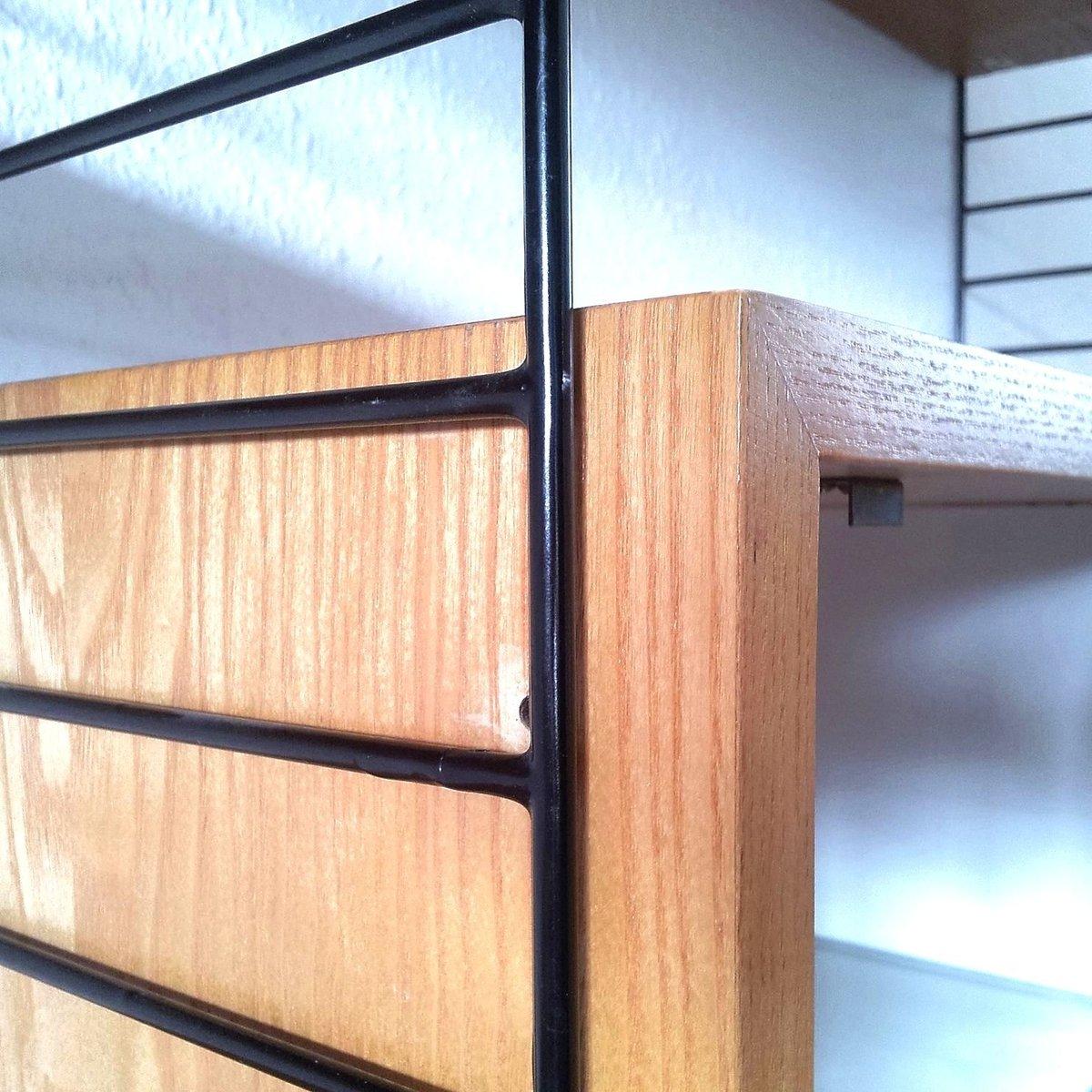 string shelf by nisse strinning for string 1950s for sale at pamono. Black Bedroom Furniture Sets. Home Design Ideas