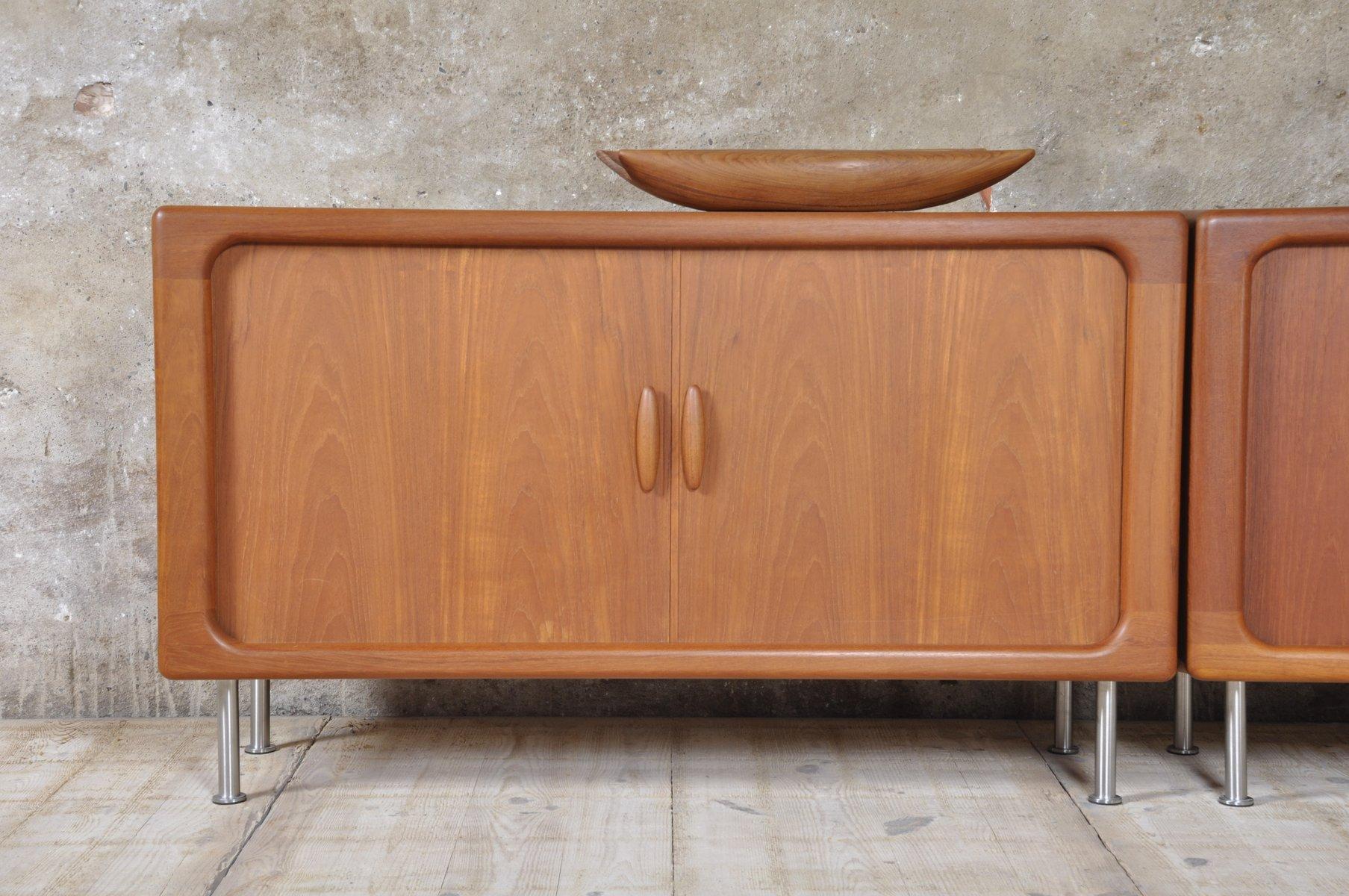 mid century danish teak lowboard from dyrlund for sale at. Black Bedroom Furniture Sets. Home Design Ideas