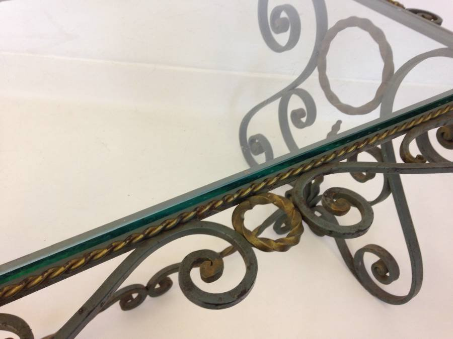 Lovely Vintage French Wrought Iron Coffee Table
