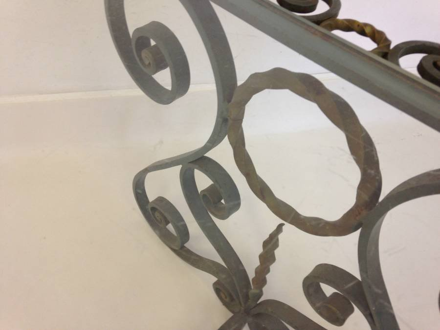 Good Vintage French Wrought Iron Coffee Table