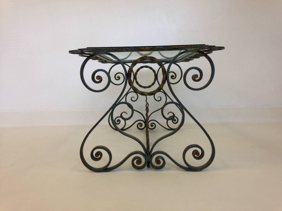 Vintage French Wrought Iron Coffee Table 6. $863.00. +$399.00 ...