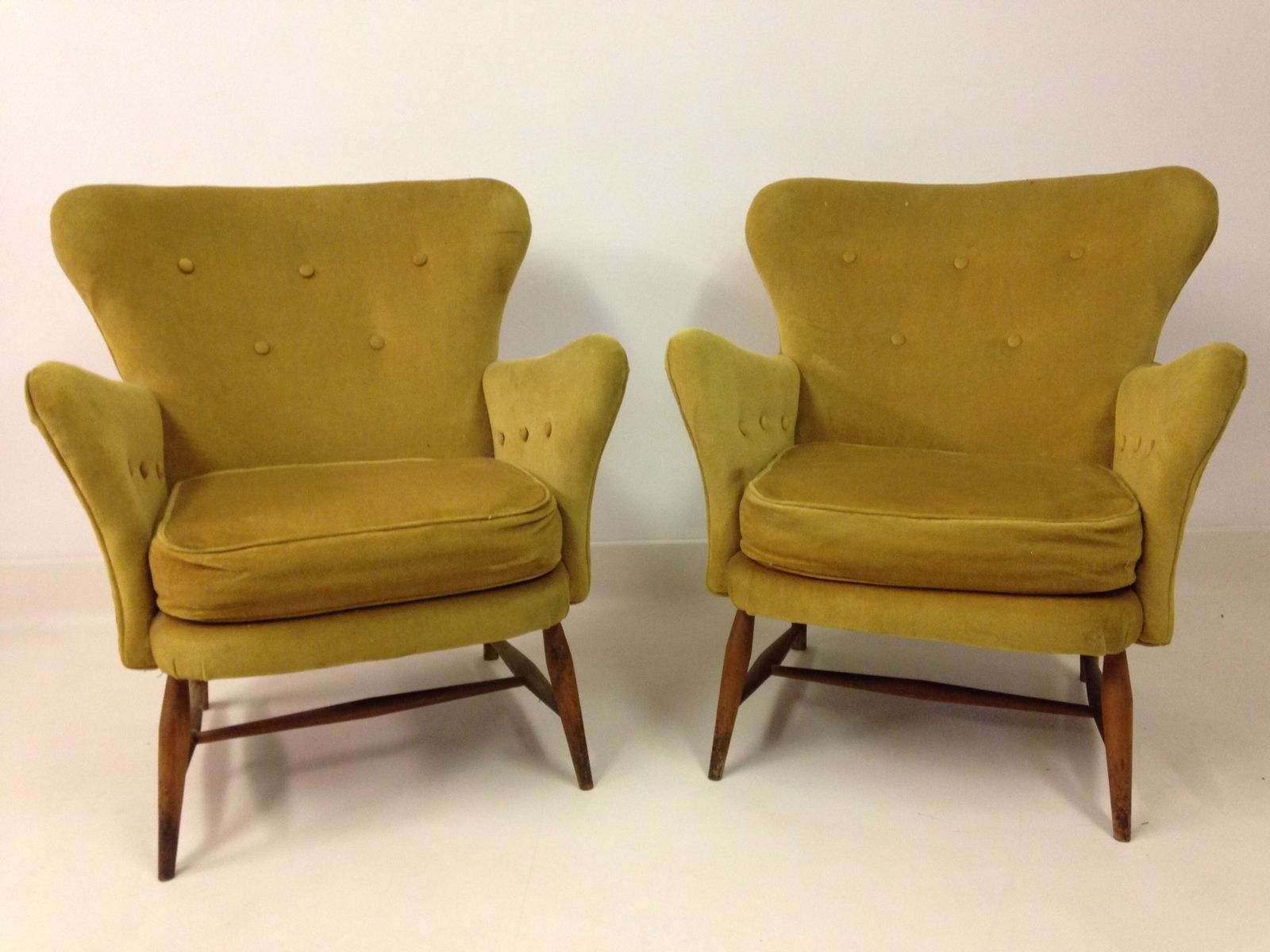 Vintage Armchairs From Ercol 1950s Set Of 2 For Sale At