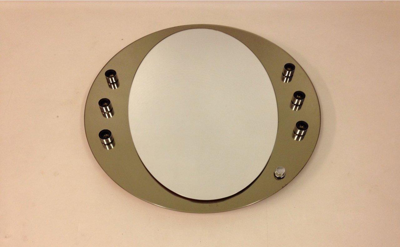 vintage italienischer spiegel mit beleuchtungen bei pamono kaufen. Black Bedroom Furniture Sets. Home Design Ideas