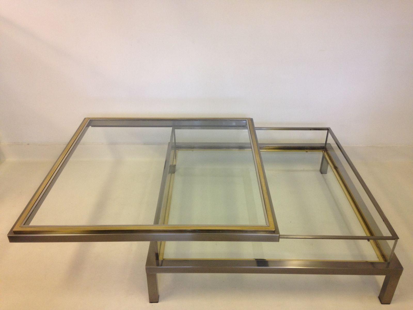 vintage sliding vitrine coffee table for sale at pamono. Black Bedroom Furniture Sets. Home Design Ideas