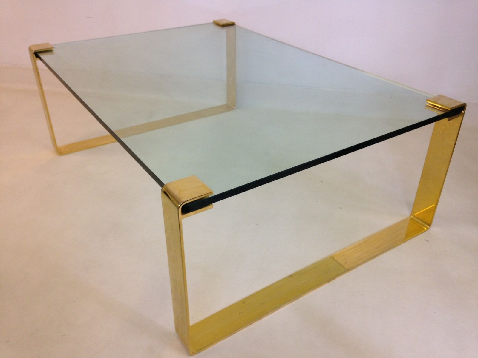 Vintage gold metal glass coffee table for sale at pamono Gold metal coffee table