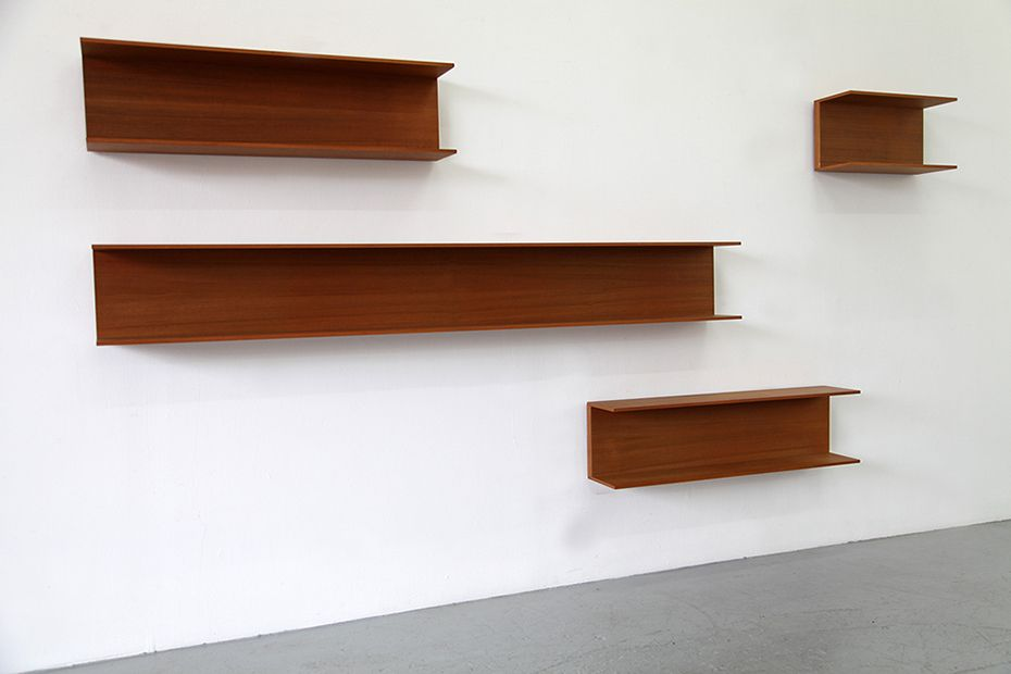 wall shelves by walter wirz for wilhelm renz 1962 set of. Black Bedroom Furniture Sets. Home Design Ideas