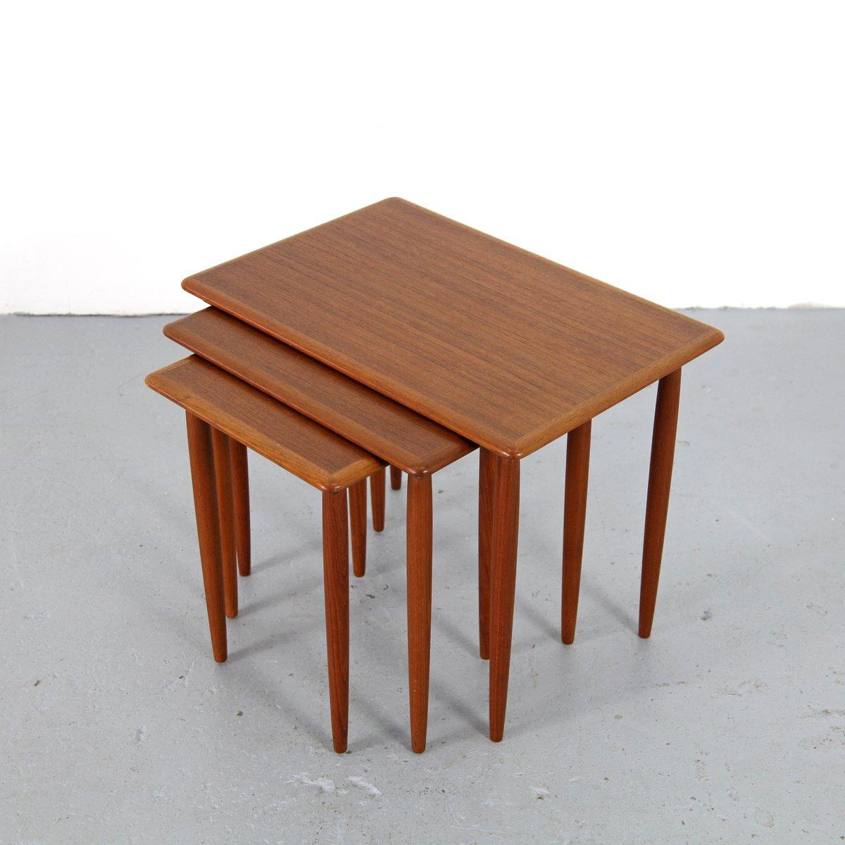 Vintage danish teak nesting tables s set of for