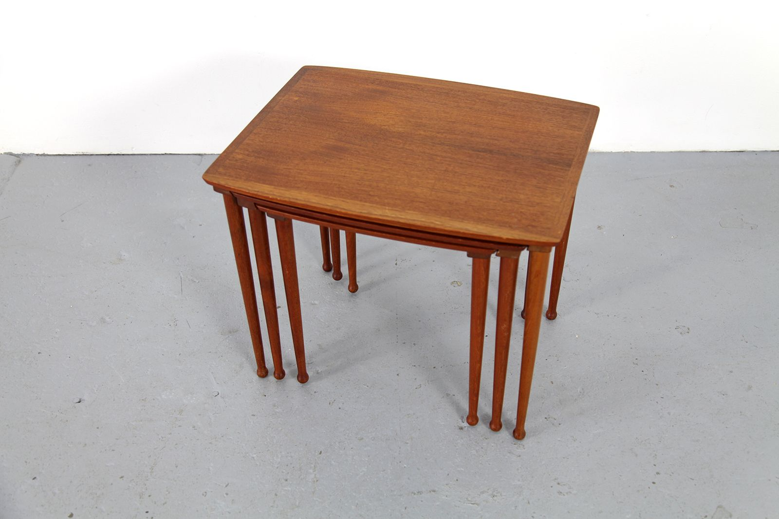 Amazing photo of Vintage Teak Nestling Tables Denmark 1960s Set of 3 13 with #461408 color and 1600x1067 pixels