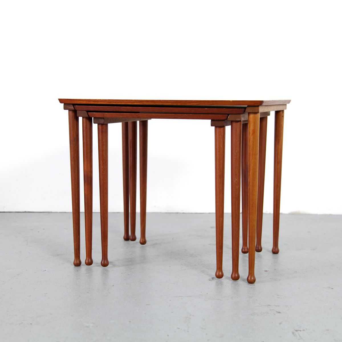 Amazing photo of Vintage Teak Nestling Tables Denmark 1960s Set of 3 3 with #7B371D color and 1200x1200 pixels