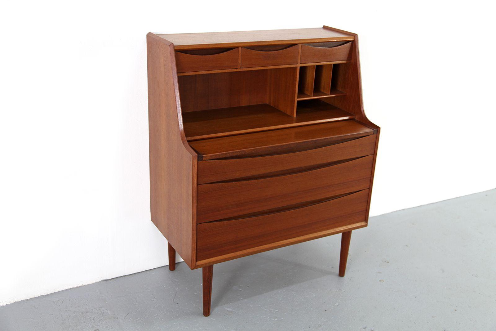 vintage teak secretaire by arne vodder for sale at pamono. Black Bedroom Furniture Sets. Home Design Ideas