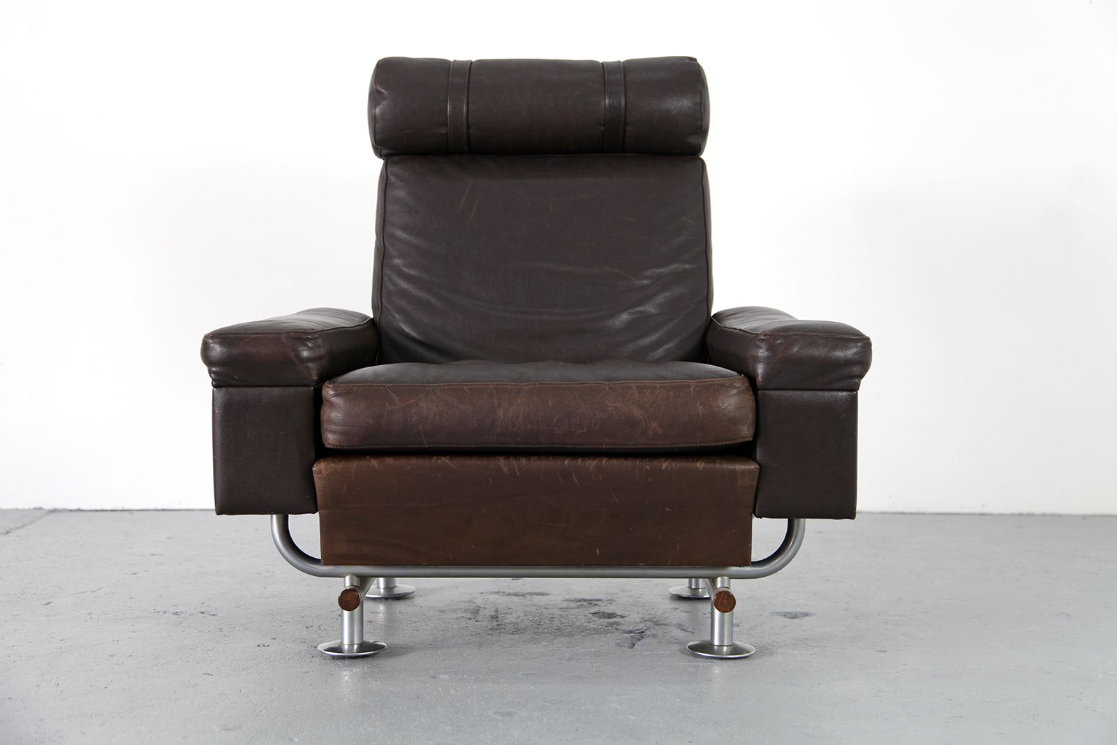 Mid Centry Lounge Chair with Ottoman by Illum Wikkelsø for Arhus Polstermøbel