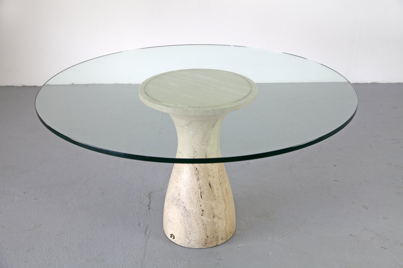 Vintage esstisch aus travertin marmor von draenert bei for Travertin marmor tisch
