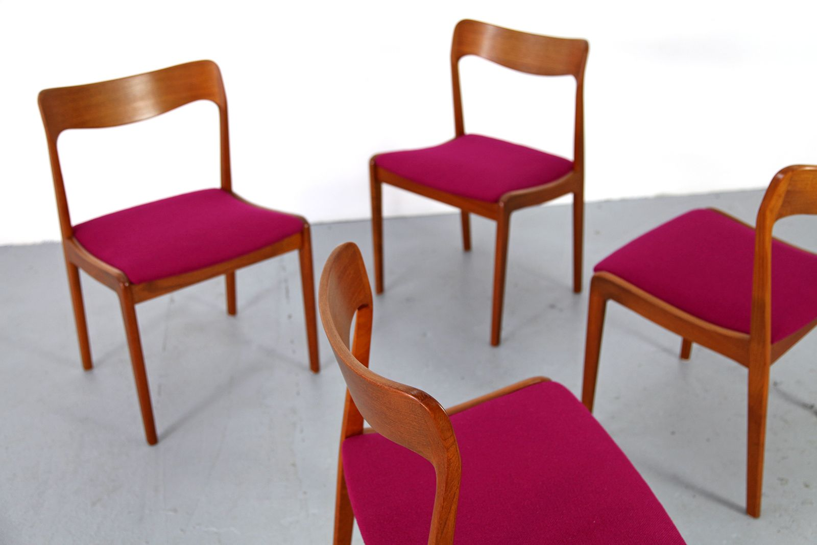 danish teak chairs 1960s set of 4 for sale at pamono