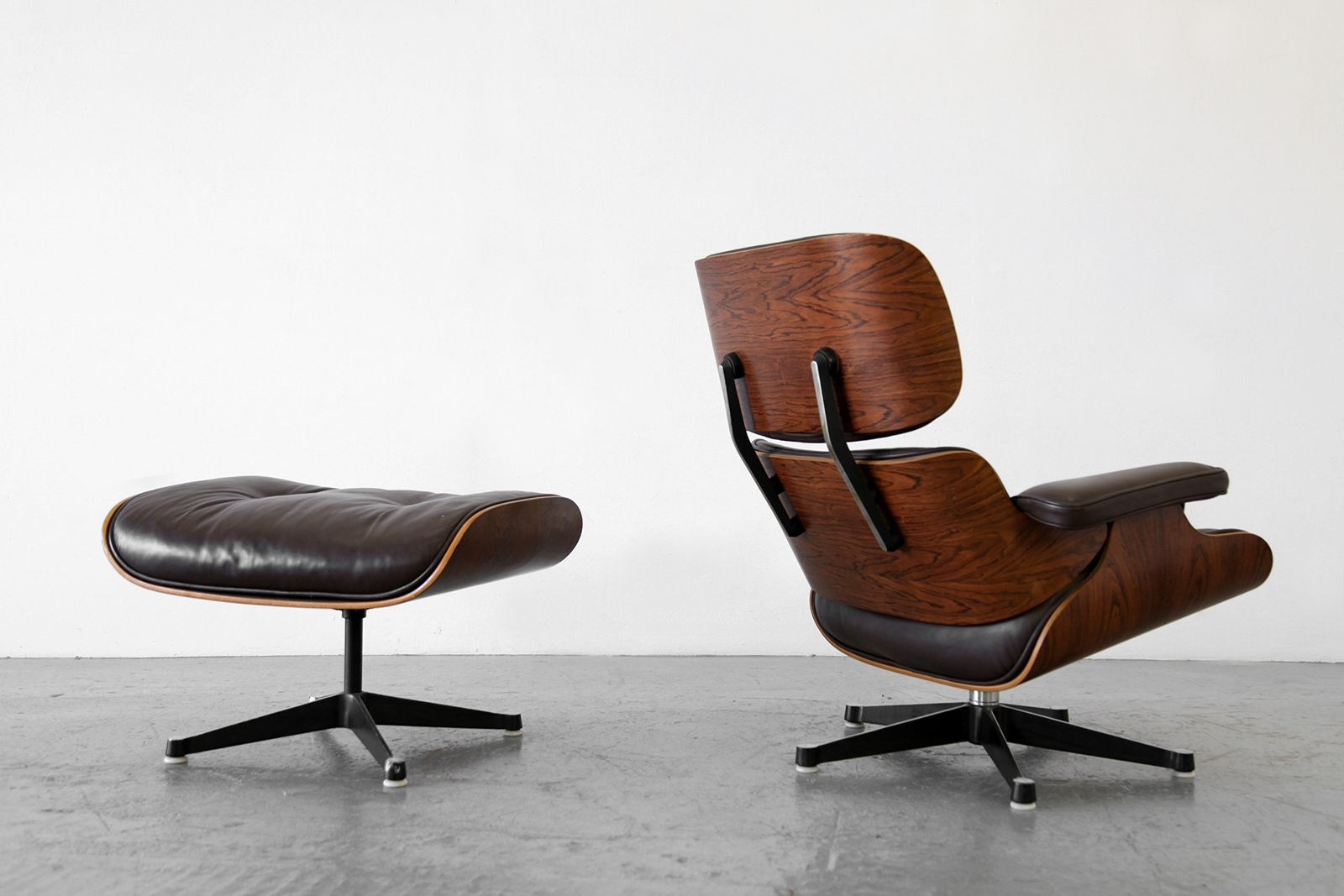 lounge chair and ottoman by ray charles eames for