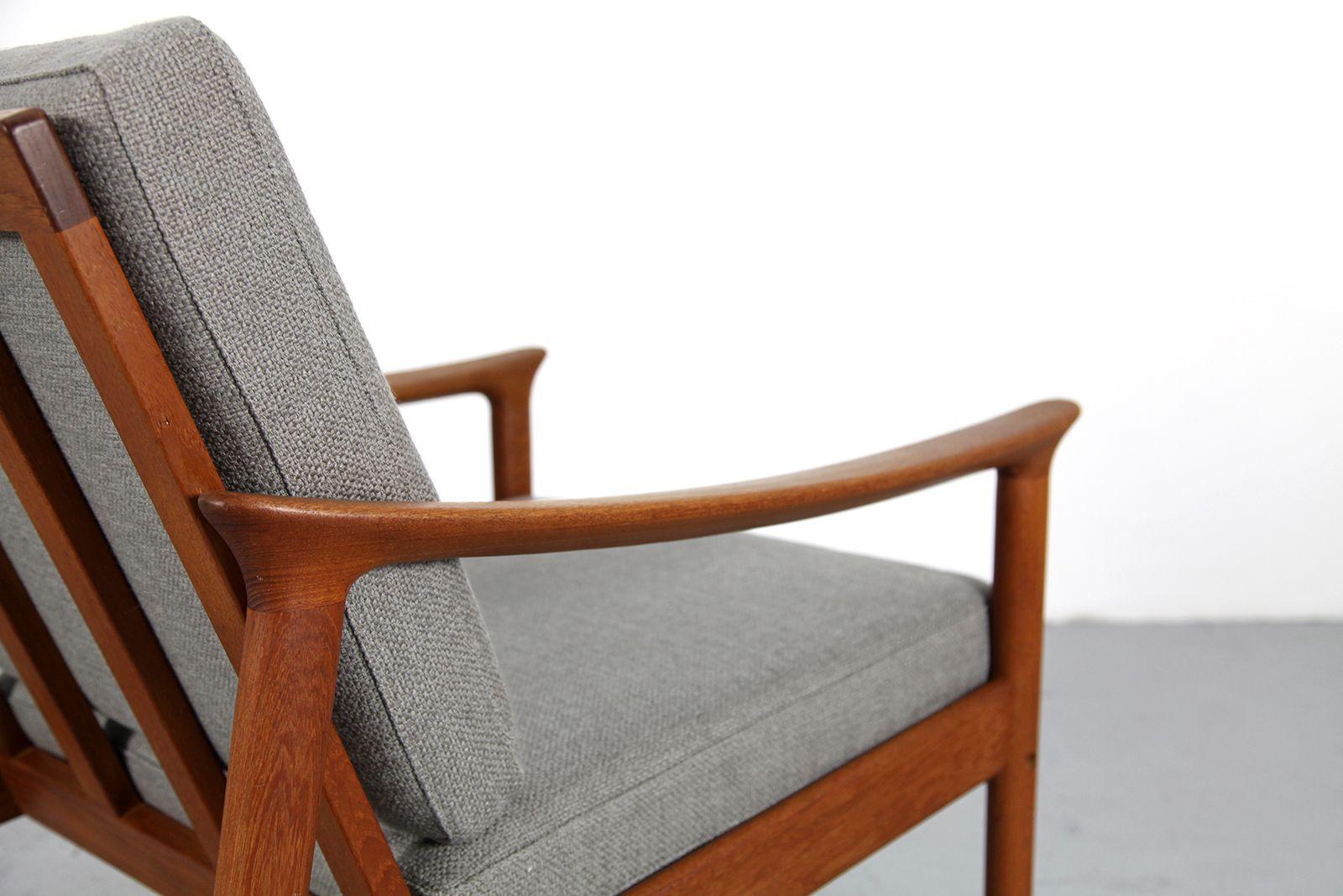 grey danish teak armchair 1970s for sale at pamono