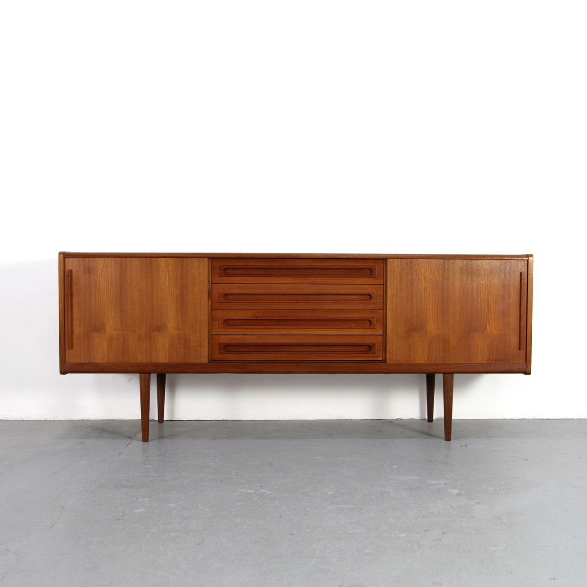 danish mid century teak sideboard for sale at pamono. Black Bedroom Furniture Sets. Home Design Ideas