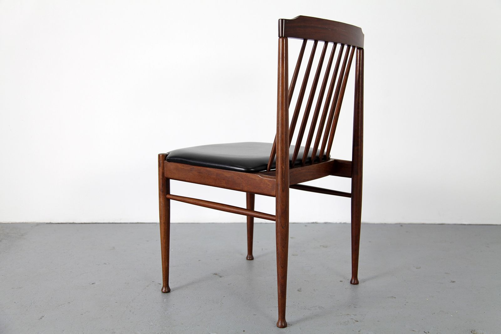 mid century rosewood dining chair 1960s set of 6 for sale at pamono. Black Bedroom Furniture Sets. Home Design Ideas