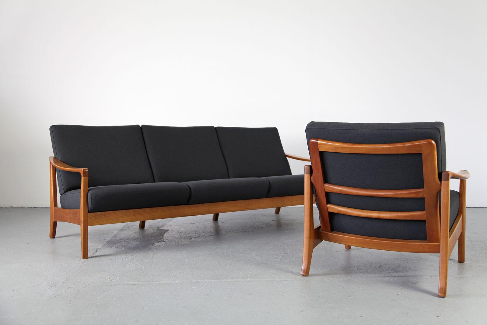 mid century sofa aus deutschland 1950er bei pamono kaufen. Black Bedroom Furniture Sets. Home Design Ideas