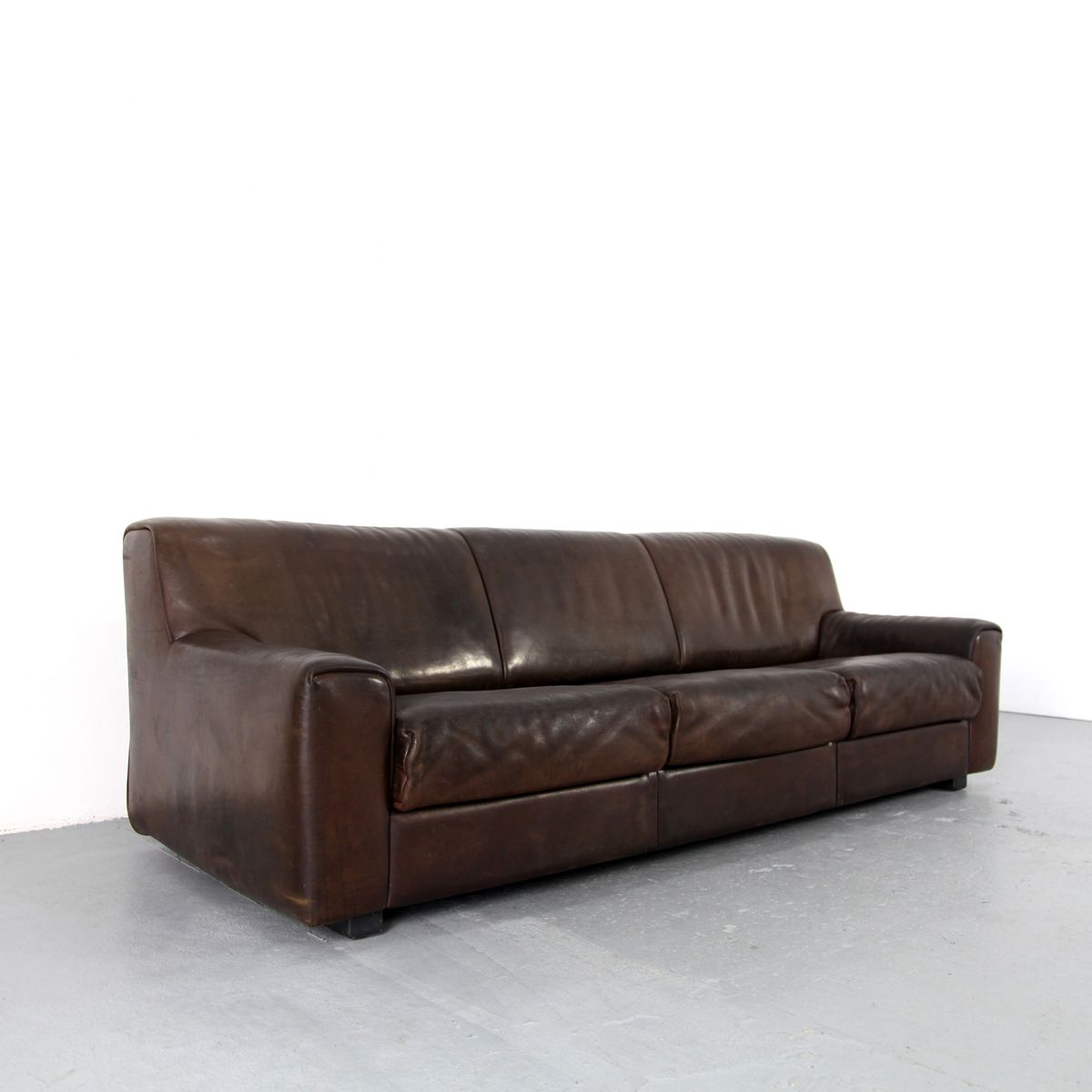 brown leather sofa from de sede 1960s for sale at pamono. Black Bedroom Furniture Sets. Home Design Ideas