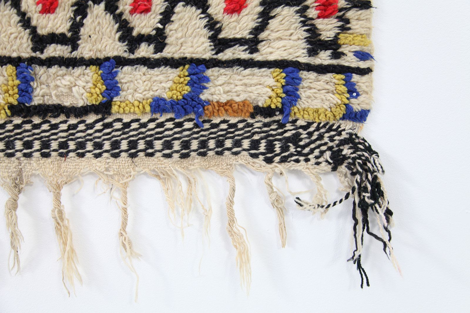 Vintage berber wool rug from morocco for sale at pamono for Wool berber area rug