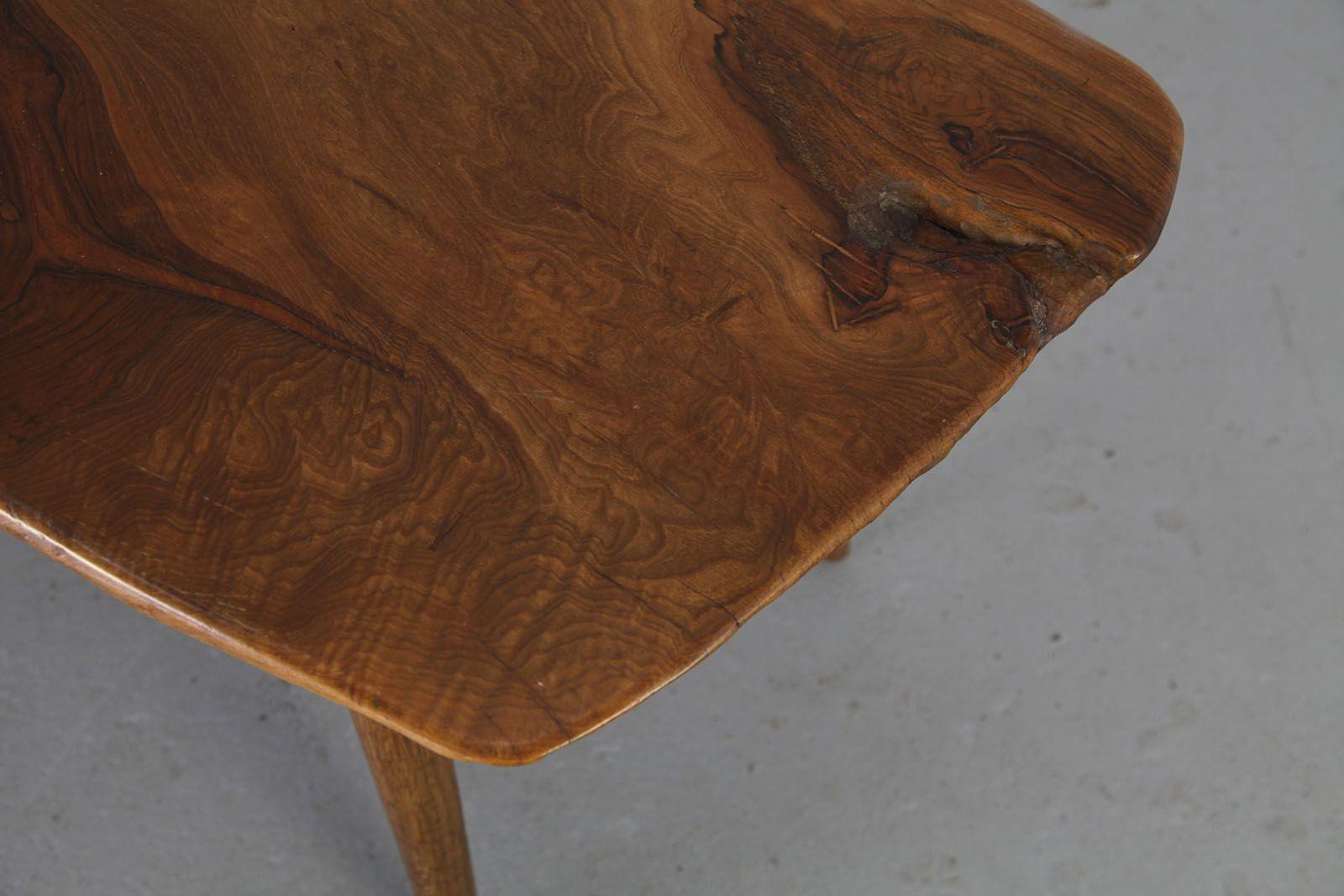 handgemachte beistellstische aus baumst mmen 1960er 4er set bei pamono kaufen. Black Bedroom Furniture Sets. Home Design Ideas