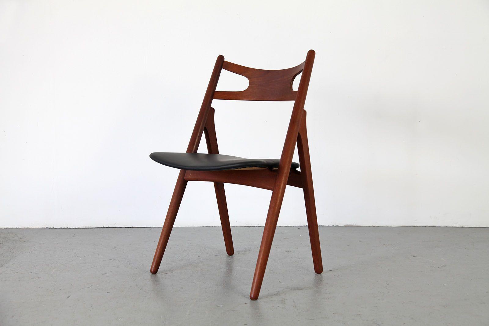 savbuckstolen stuhl ch 29 von hans j wegner f r carl hansen s n bei pamono kaufen. Black Bedroom Furniture Sets. Home Design Ideas