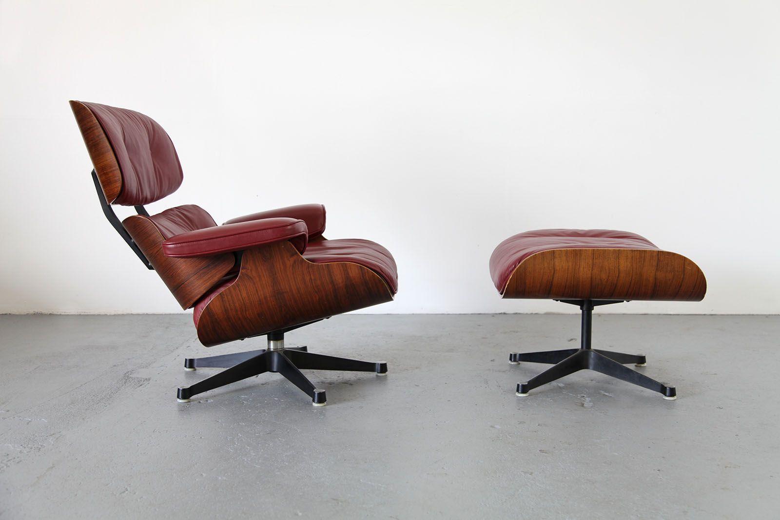 drehsessel fu hocker von ray charles eames f r herman miller 1950er 2er set bei pamono kaufen. Black Bedroom Furniture Sets. Home Design Ideas