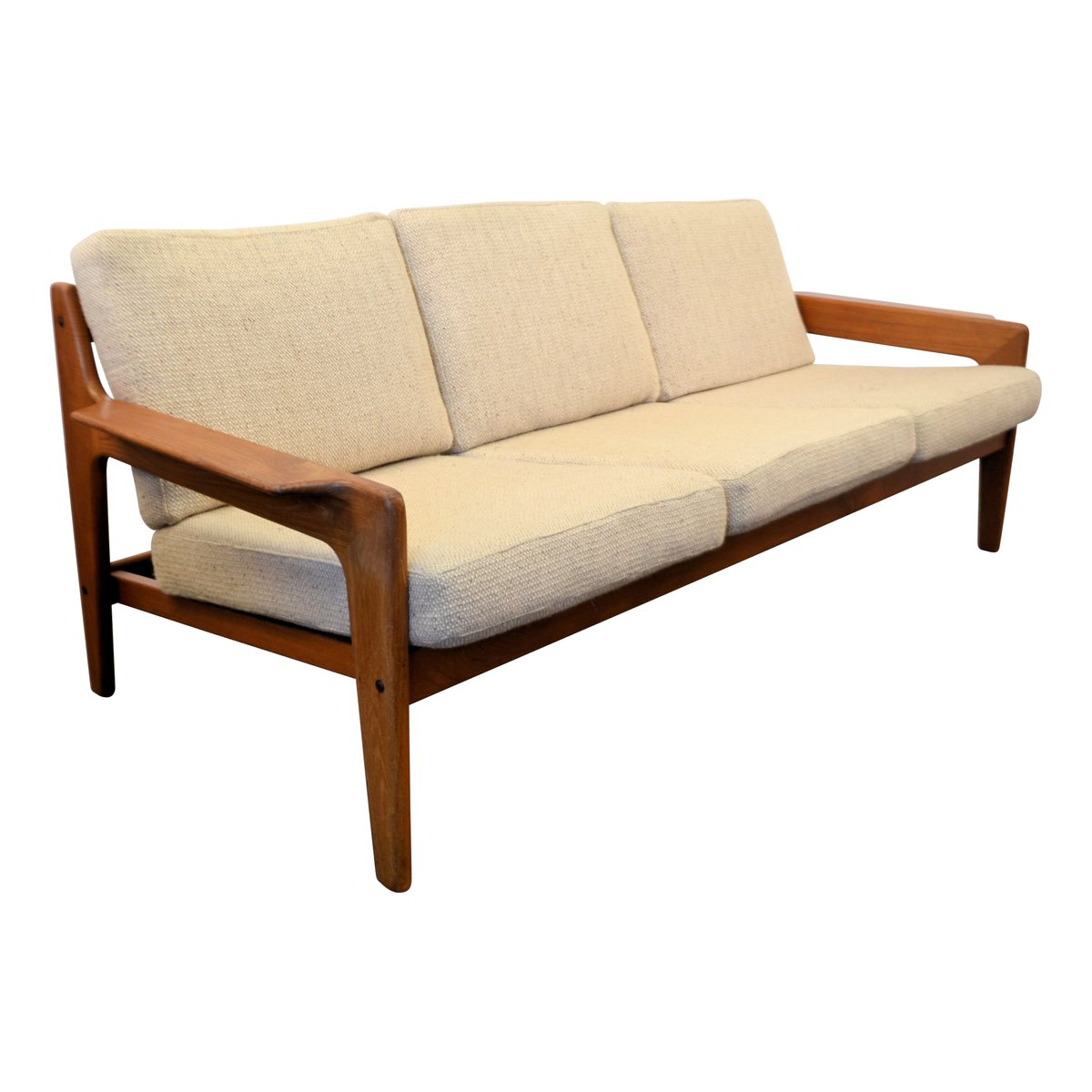 vintage danish teak frame sofa by arne wahl iversen for komfort for sale at pamono. Black Bedroom Furniture Sets. Home Design Ideas