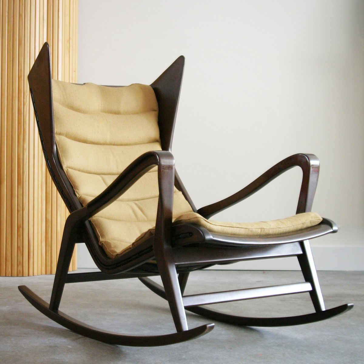 vintage rocking chair by gio ponti for cassina for sale at pamono. Black Bedroom Furniture Sets. Home Design Ideas