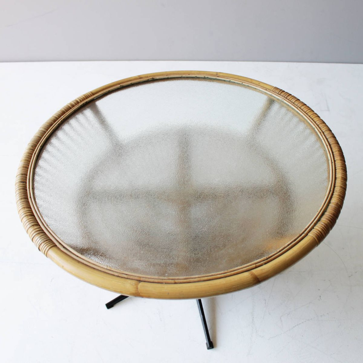 MidCentury Rattan Coffee Table c1969 for sale at Pamono
