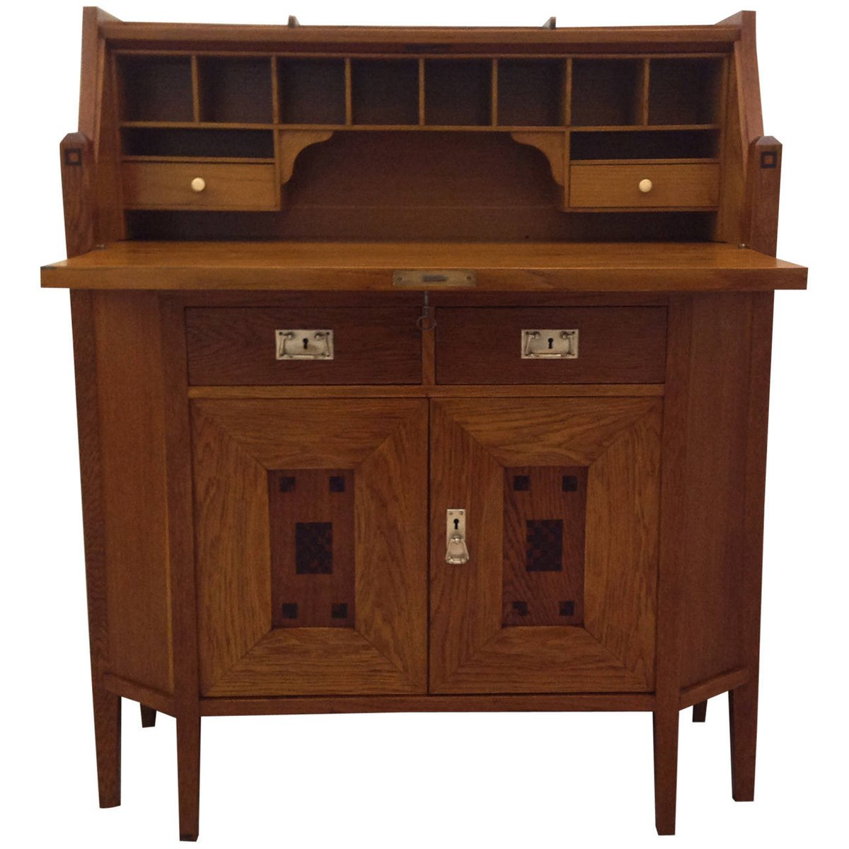 Antique Oak Secretary Desk For Sale At Pamono