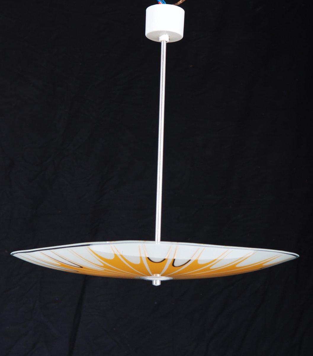 Mid century yellow splatter design ceiling lamp 1950 for sale at pamono - Mid century designers ...