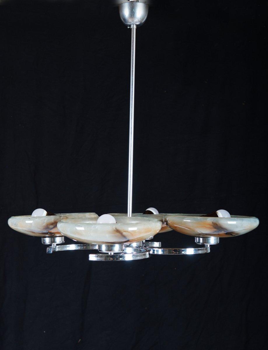 plafonnier art d co avec quatre lumi res en vente sur pamono. Black Bedroom Furniture Sets. Home Design Ideas