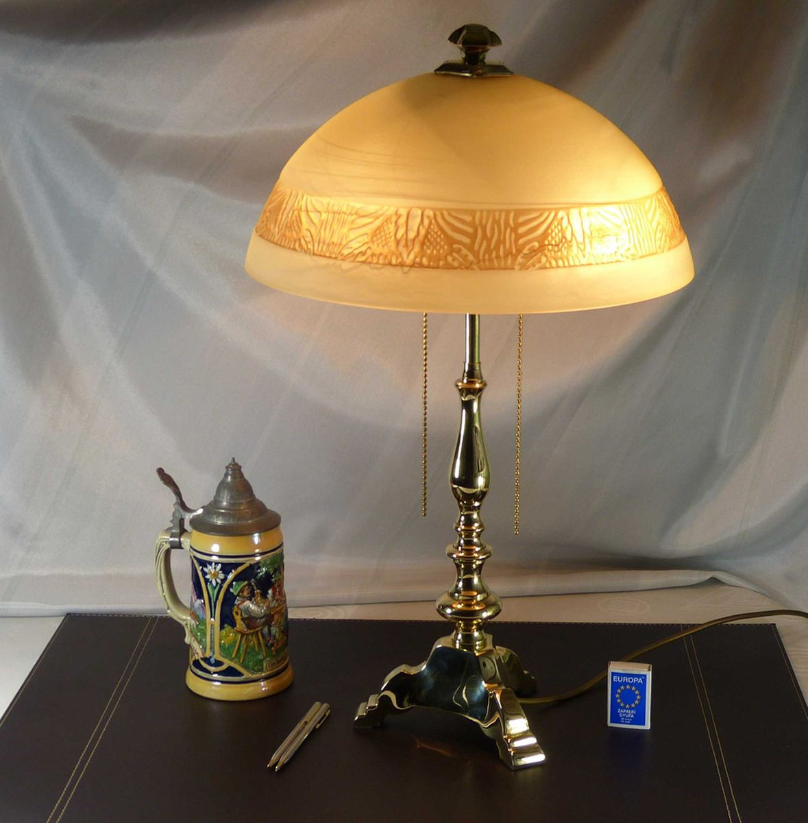 vintage brass table lamp for sale at pamono. Black Bedroom Furniture Sets. Home Design Ideas