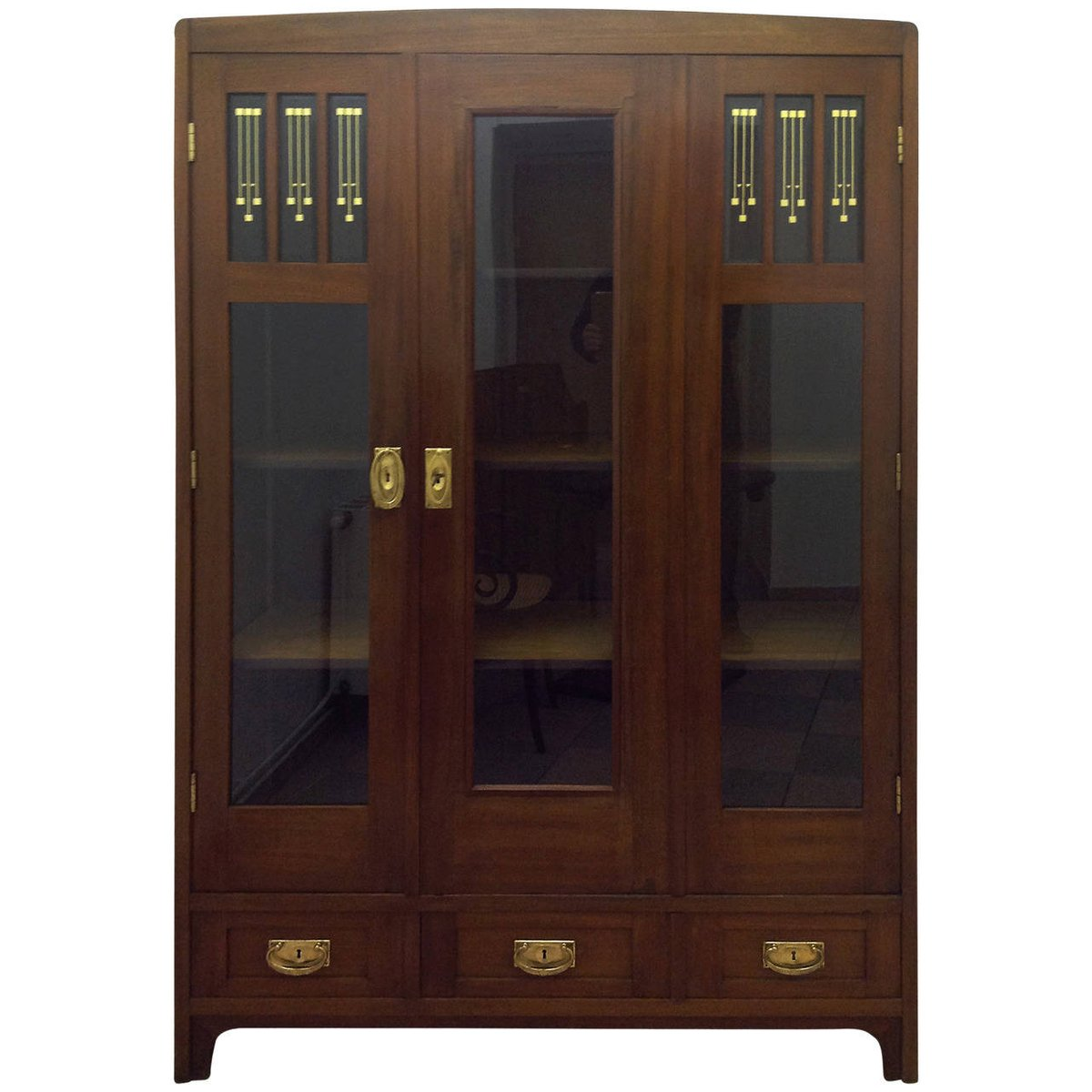 vintage nouveau book cabinet for sale at pamono