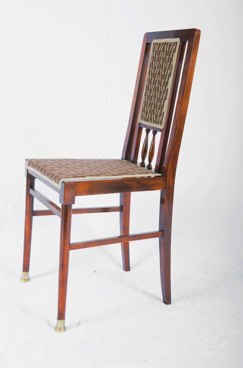 vintage jugendstil esszimmerst hle 6er set bei pamono kaufen. Black Bedroom Furniture Sets. Home Design Ideas