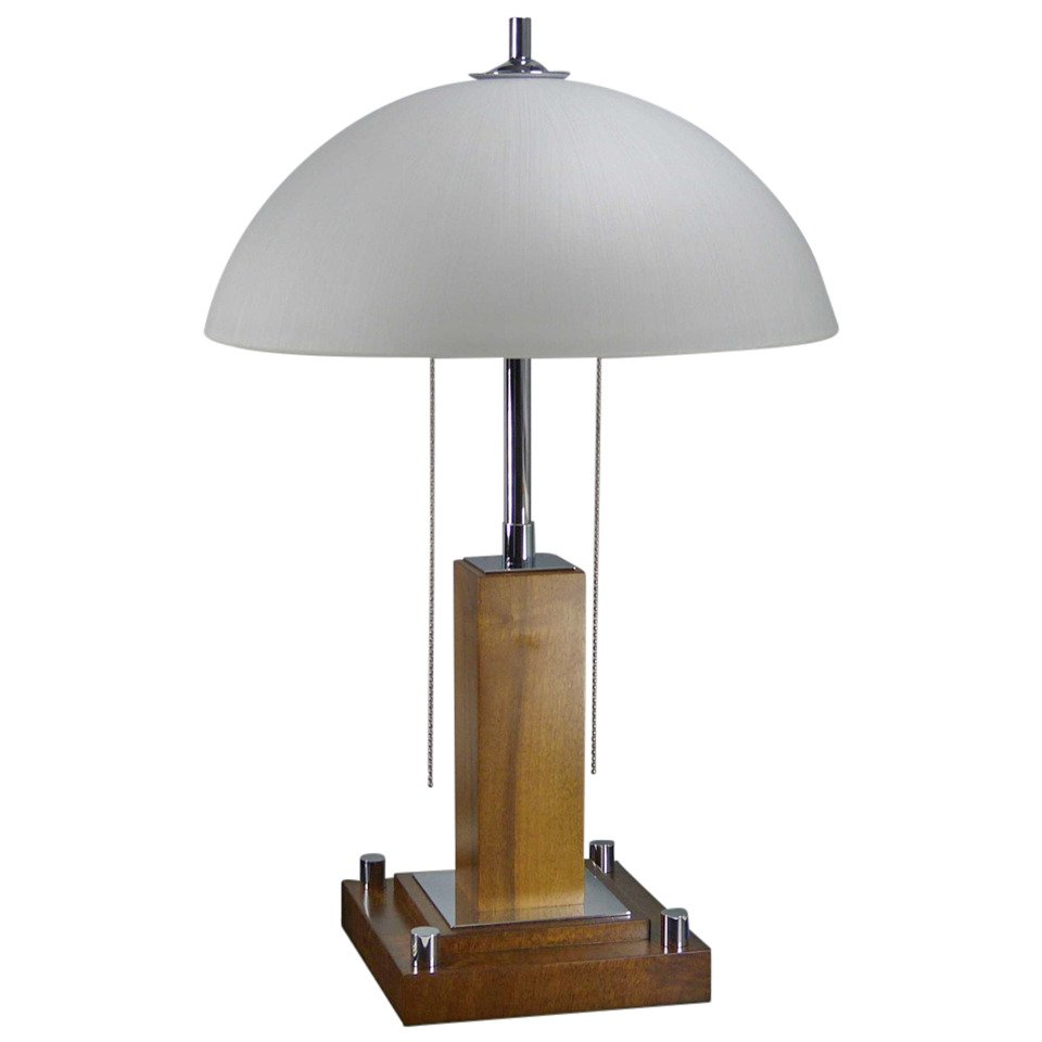 Art deco table lamp for sale at pamono for Art deco style lamp