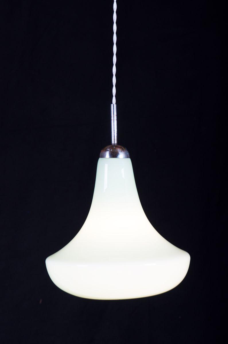 mid century glass pendant light for sale at pamono. Black Bedroom Furniture Sets. Home Design Ideas